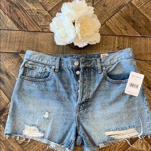 NWT Free People Frayed Denim Shorts